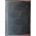 黑鱷魚皮紋證書夾